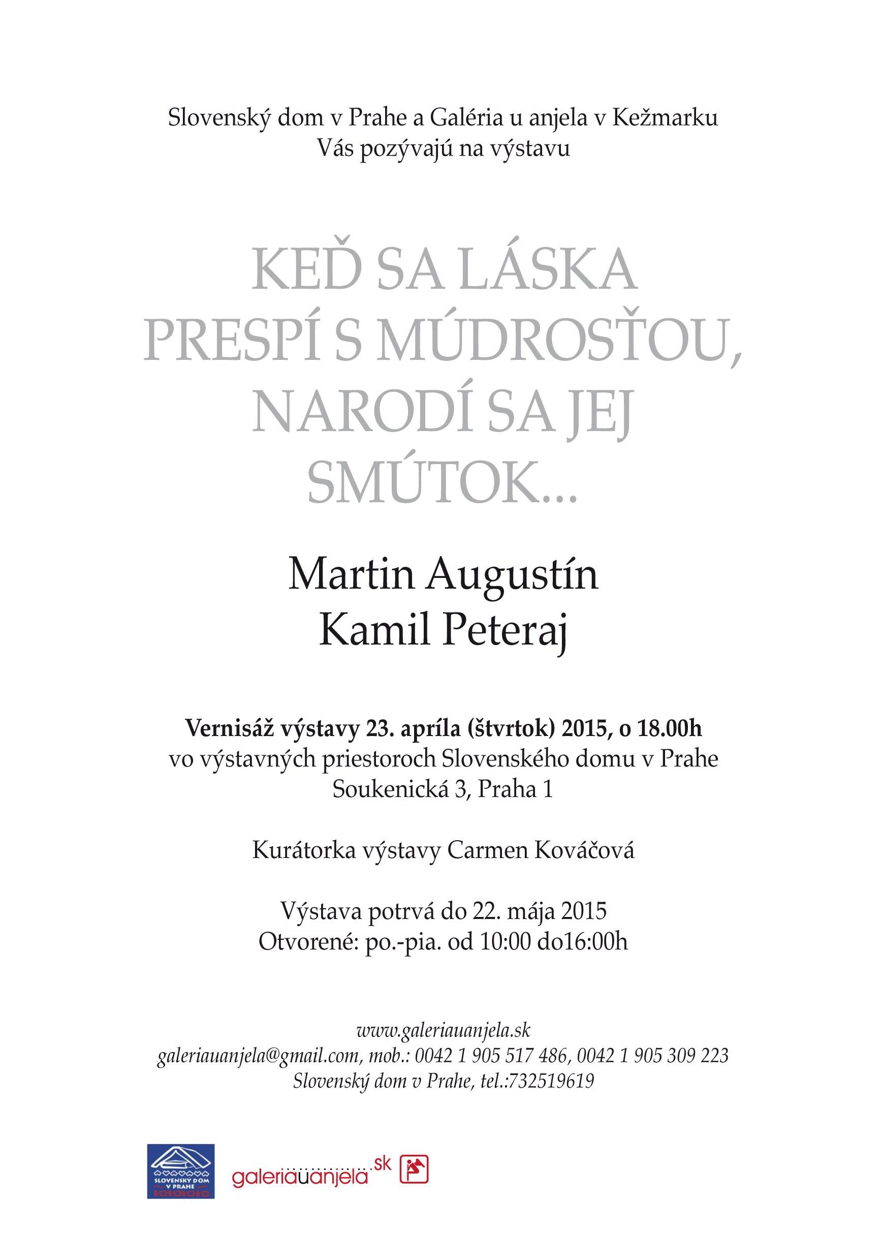 5b22828bc Oba autoři mají za sebou vzájemnou úspěšnou spolupráci na společných  projektech v největším slovenském vydavatelství IKAR. Za Peterajovu knihu