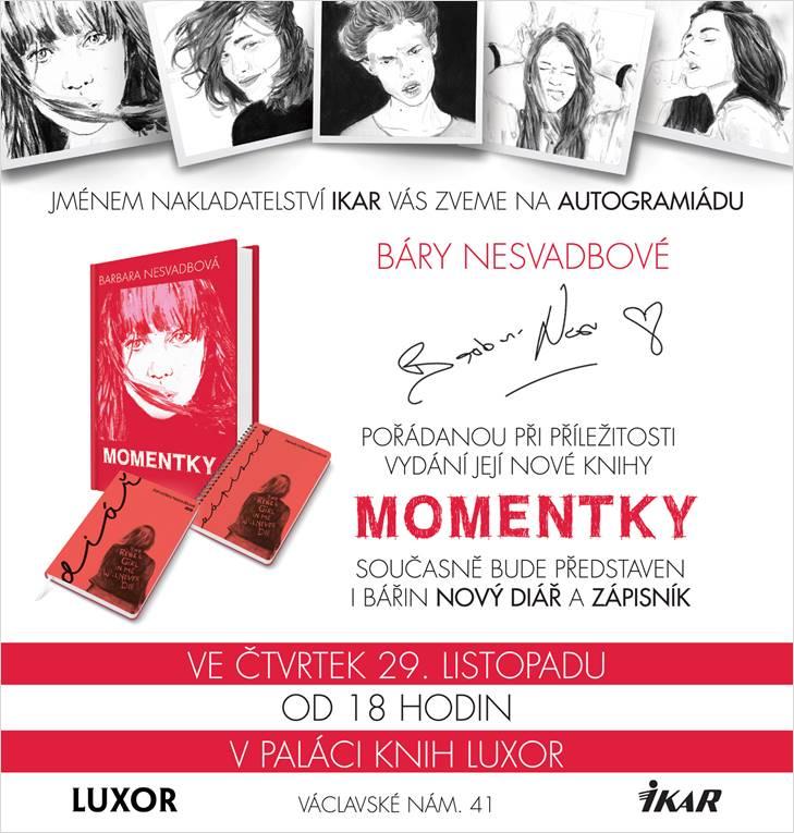 Autogramiáda knihy Báry Nesvadbové MOMENTKY